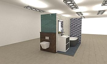 expositor hexagonos Classic Bathroom COMERCIAL ESPIñEIRO GRUPO ALCONGAL
