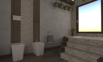 Progetto Renderrr Classic Bathroom Pasquale Squillace