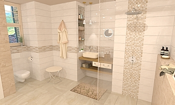 Idea Ceramica- Shine Beig... Classic Bathroom Terrakotta  Csempecentrum