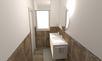279 Contemporary Bathroom LONGO SRL Superfici & Arredo