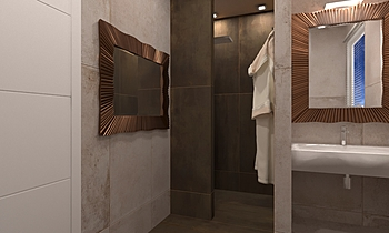 Bagno Piano Primo Contemporary Bathroom  AmbienteBagno  Antichi
