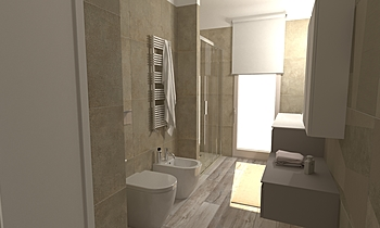 280 Contemporary Bathroom LONGO SRL Superfici & Arredo