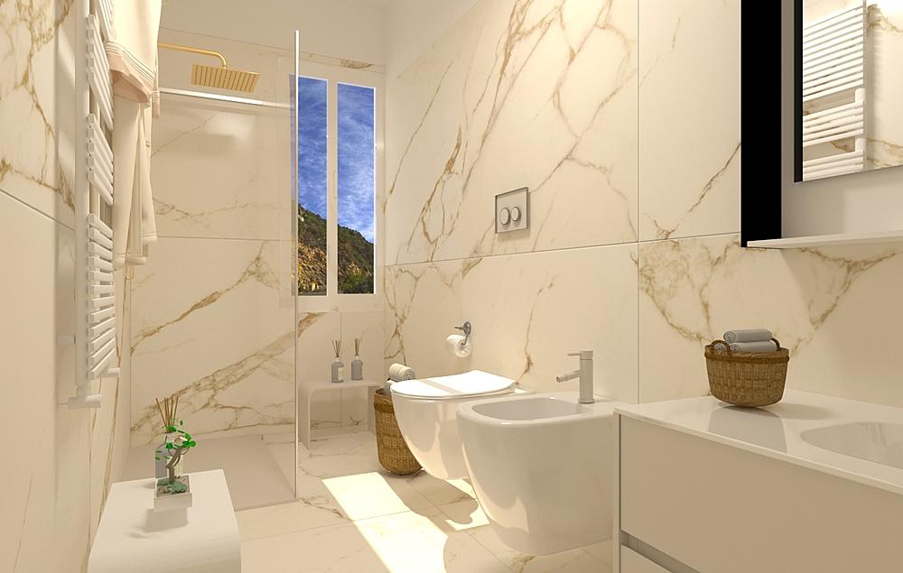Calacatta Oro Classic Bathroom By Rocco Catillo Tilelook