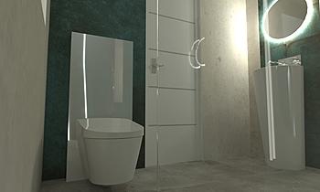 bagno esterno Contemporary Bathroom Beatrice Dolcetti
