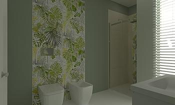Bagno Jungle Secondario Contemporary Bathroom  AmbienteBagno  Antichi