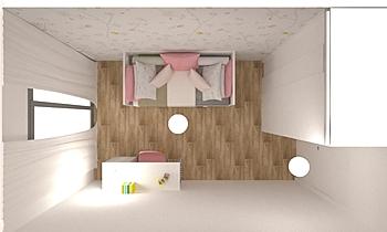 Dormitorio infantil Piso ... Contemporain Chambre Orballo Decoración
