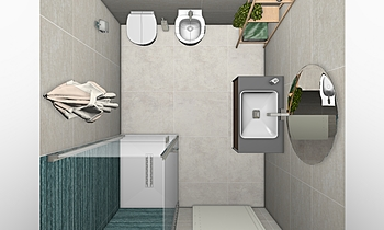 Bagno 3x2 Raw Classic Bathroom COVERINGS .IT