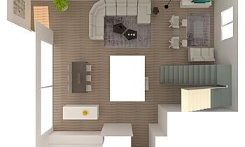 SEJOUR VARIANTE ROCK Contemporary Living room Alain Rossetti