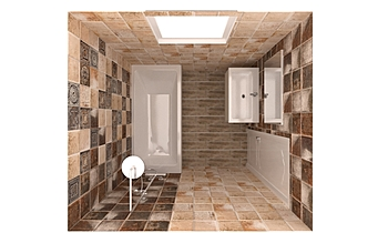 Tin Tile Classic Bathroom Ruse ruse