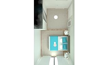 habitacion matrimonio_pis... Contemporain Chambre Orballo Decoración