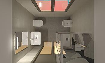 proogetto bagno Classic Bathroom Viviana Pusceddu