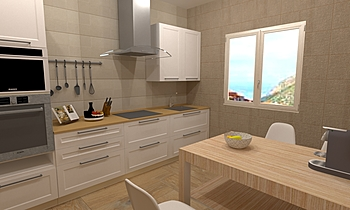 Cocina colores claros (li... Contemporary Kitchen BdB  TELLO DE ARCO
