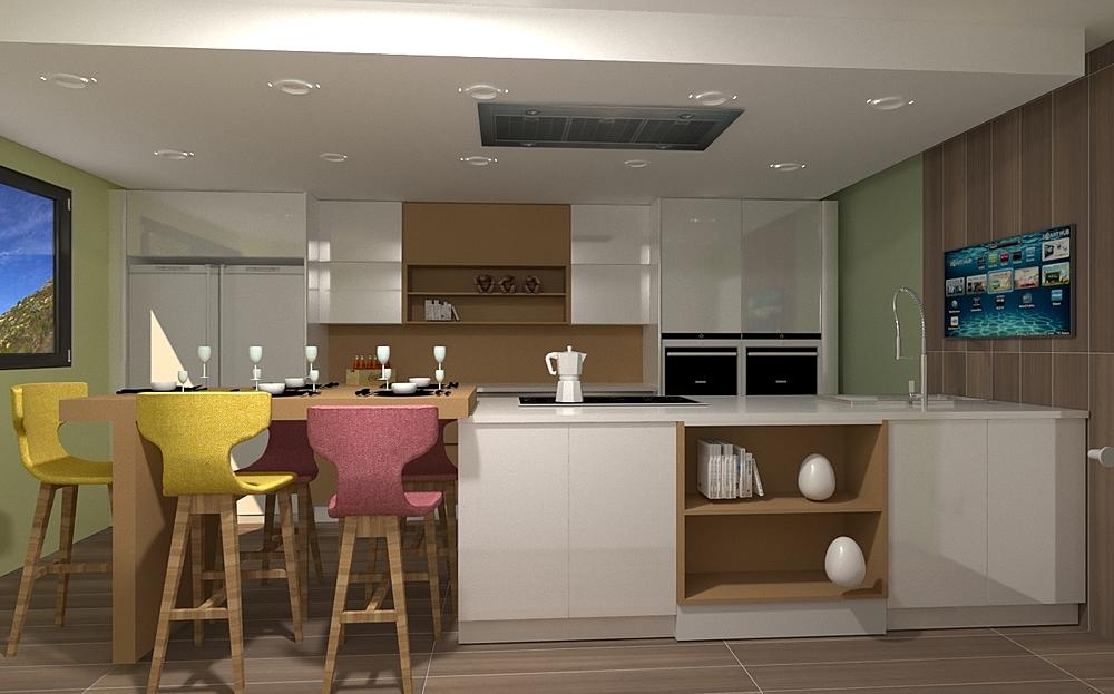 cocina abrela Contemporary Kitchen CESAR  COCINA Y BAÑO
