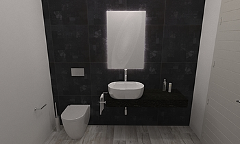 282 Contemporary Bathroom LONGO SRL Superfici & Arredo