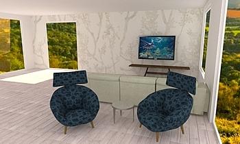 Meritxel Contemporary Living room Natuzzi Italia Store Bilbao