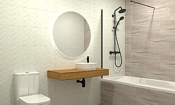 Baño Principal - Marazzi ... Modern Fürdőszoba Azulejos Perales