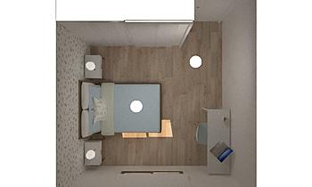 Dormitorio 2 Noa_ Contemporain Chambre Orballo Decoración