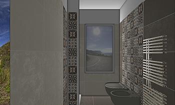 bagno piccolo Classic Bathroom CATERINA GRILLONE