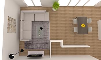 SEJOUR Contemporary Living room Alain Rossetti