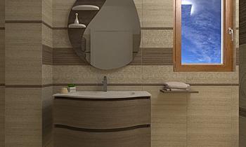 BRENNERO. PINO E FRANCA  Modern Bathroom ANTONIO MILETTA