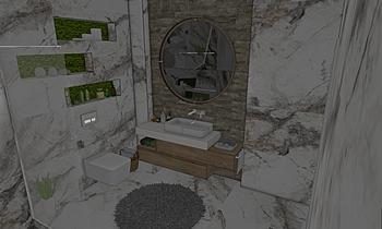 Марк Invisible Marble + C... Classic Bathroom Kostadin Vlahov