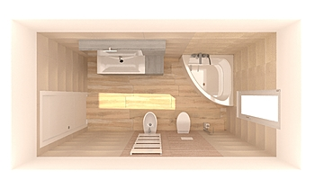 BAGNO GRANDE Klasický Koupelna antonio sileo