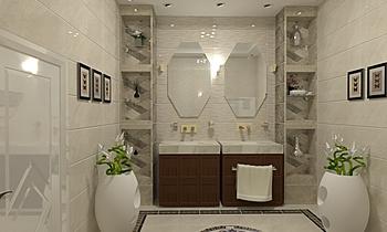محمد النعيمى Classic Bathroom Ahmed homestyle