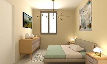 Villino C.letto 1piano- M... Modern Bedroom Fratelli Marrazzo  Ceramiche