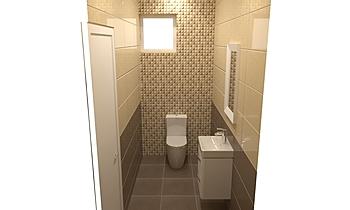 BCS - Tubadzin Colour wc Classic Bathroom Terrakotta  Csempecentrum