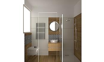 Kisfürdő Modern Bathroom Zsoka Brodi