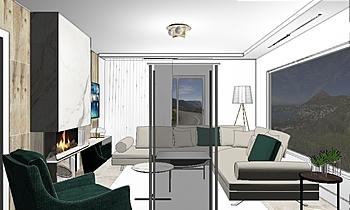 living room project house... Classic Bathroom Hristina Zaharievv