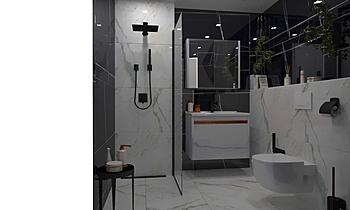 Marble Bathroom Klasszikus Fürdőszoba Vesela Neshkova