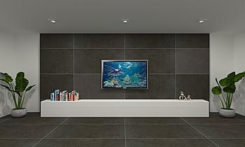 Melvin_tv feature wall Modern Oturma odası Feruni Ceramiche Sdn Bhd frspj