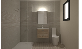 SALLE D'EAU - BELGRAVIA P... Classic Bathroom Nathalie  Faivre