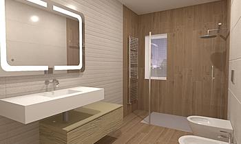 bagno ospiti Contemporary Bathroom Lo Presti casa arredo