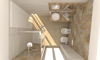 Vieste bagno soluzione 3 Clasico Baño De Gregoris -  Dove Nasce Casa