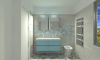 Salle d'eau titan white e... Classic Bathroom Nathalie  Faivre