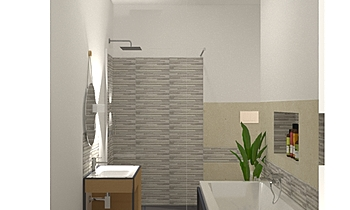 BAGNO TUSCANIA AGADIR MIX... Modern Bathroom Guglielmo Puglisi