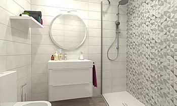 BAÑO 5 APARTAMENTOS Classic Bathroom Comercial Cortazar Diseños personalizados