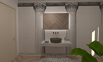 wc zona giorno Klasický Koupelna GREGOLO SRL