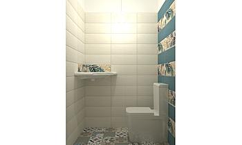 wc arts blue + décors2 Classic Bathroom Nathalie  Faivre