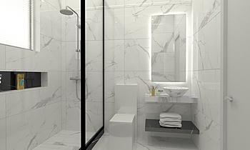 HUMD RSHD BT-1 + SMAL BT Classic Bathroom OBEID GENERAL TRADING