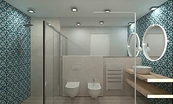 bagno casa vacanze -app p... Contemporain Salle de bain FABBRI IDROTECNOTERMICA srl FABBRI