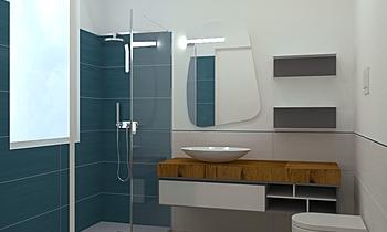 bagno grande federica Contemporain Salle de bain Gloria  Guardigli