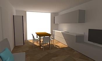 Busnago_Meridiano D6 Contemporary Living room Claudia Perego