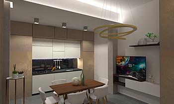 Open Space_VMdV Contemporary Living room Gianluca Landriscina
