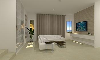 Chua Choon Lai_living hal... Classic Living room Feruni Ceramiche Sdn Bhd