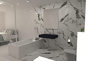 Panda marble Классический Ванная Mladen Popov