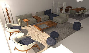 Melpot Modern Living room Fredrika Debrabant