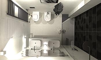 Project Metaline Moderno Baño Agenzia UNICA
